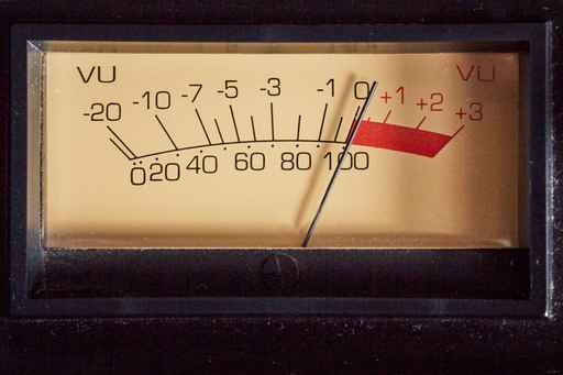 VU meter analog of audio equipment